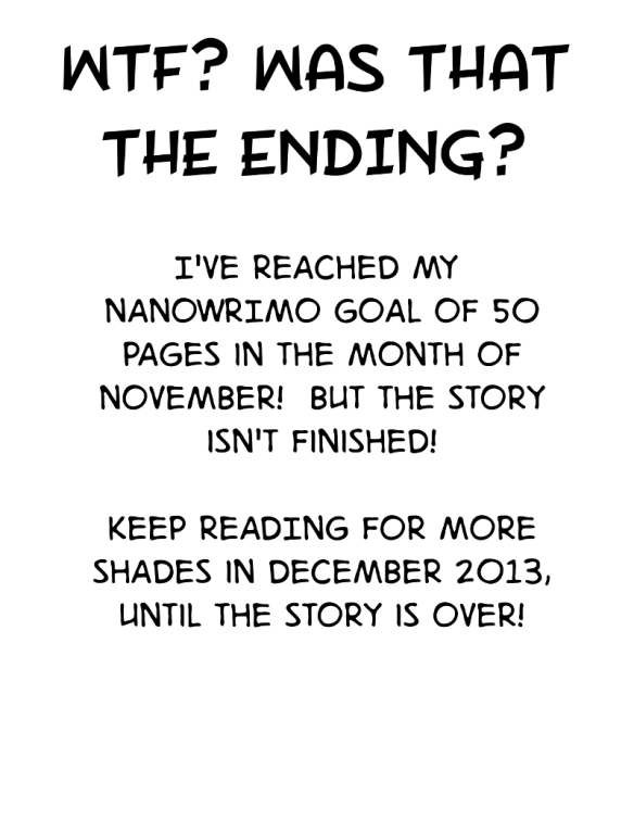 NANOWRIMO IS OVER!